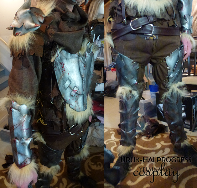 the making of custom uruk hai armor lord of the rings yelaina may cosplay custom uruk hai armor lord
